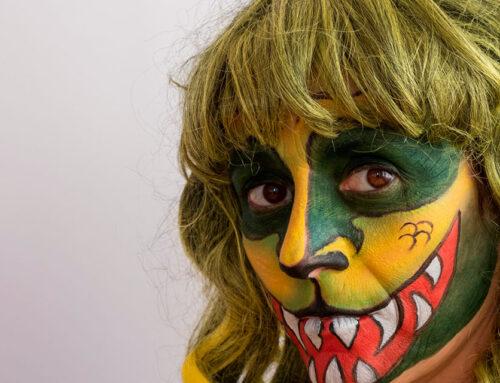 Maquillaje facial para Halloween